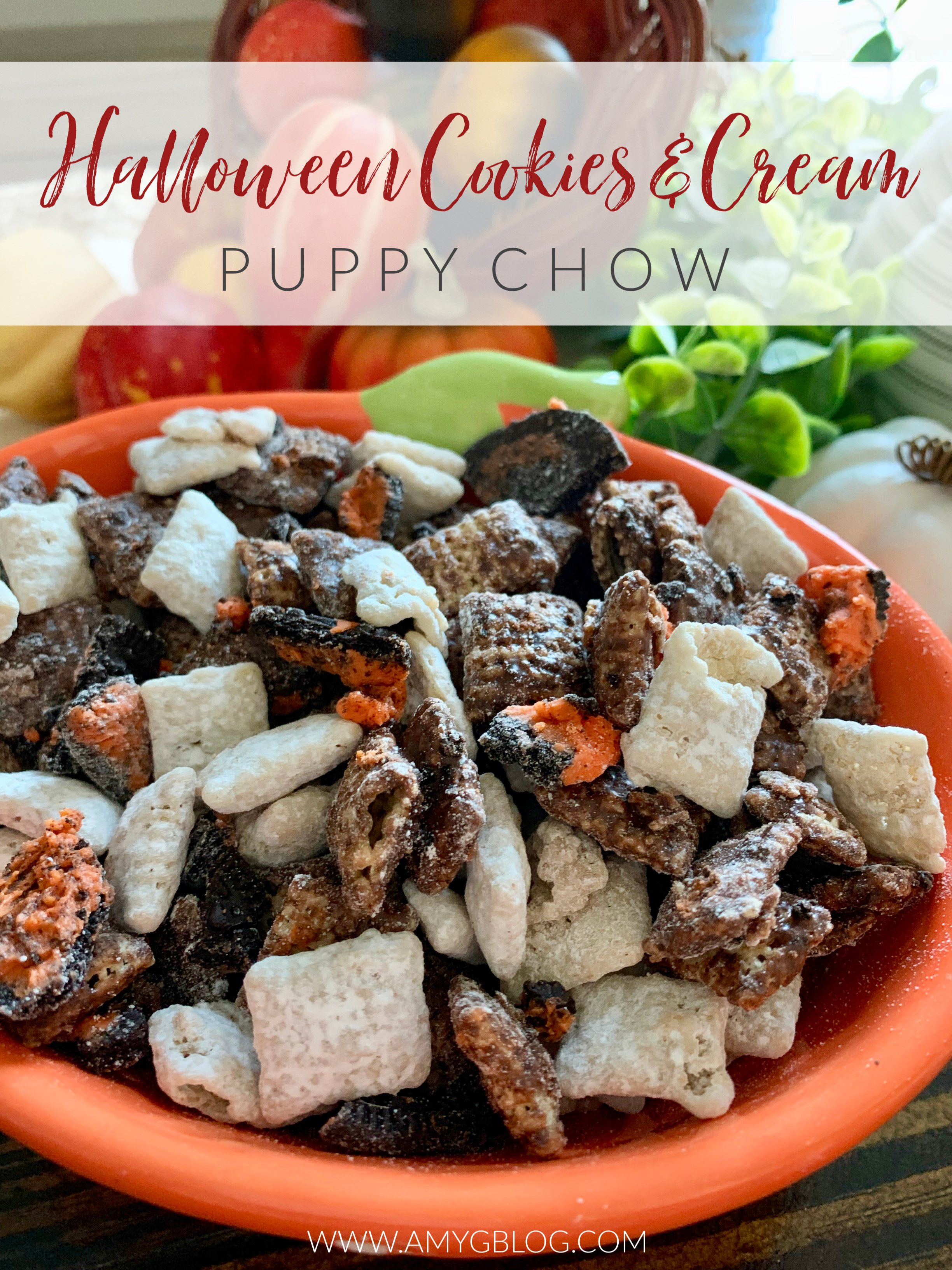 Halloween Cookies Cream Puppy Chow Amy S Balancing Act